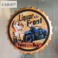 "Декоративная пивная крышка ""Liquor in the front poker in the rear"", фото 1"