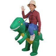 """Надувной костюм """"Верхом на динозавре"""""""