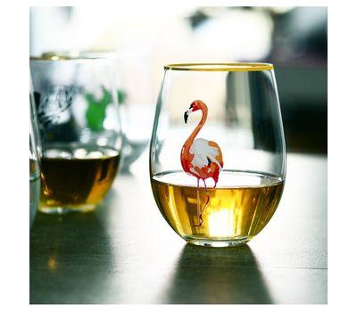 """Оригинальный бокал для вина """"Фламинго"""""""